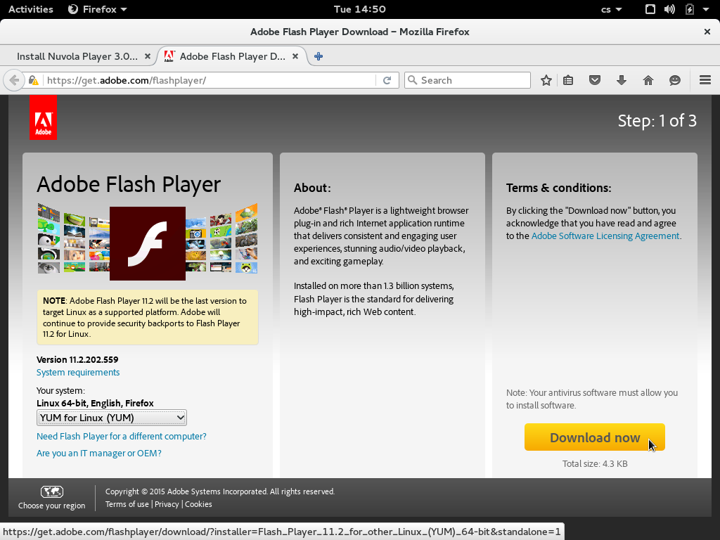 adobe flash player manually download and install