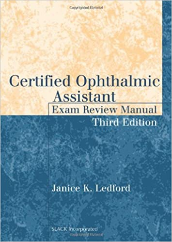 certified ophthalmic assistant exam review manual pdf