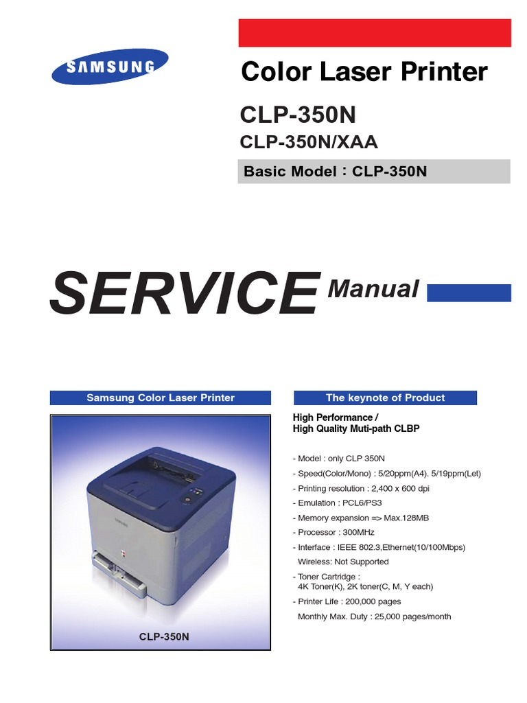 samsung clp 300 user manual pdf