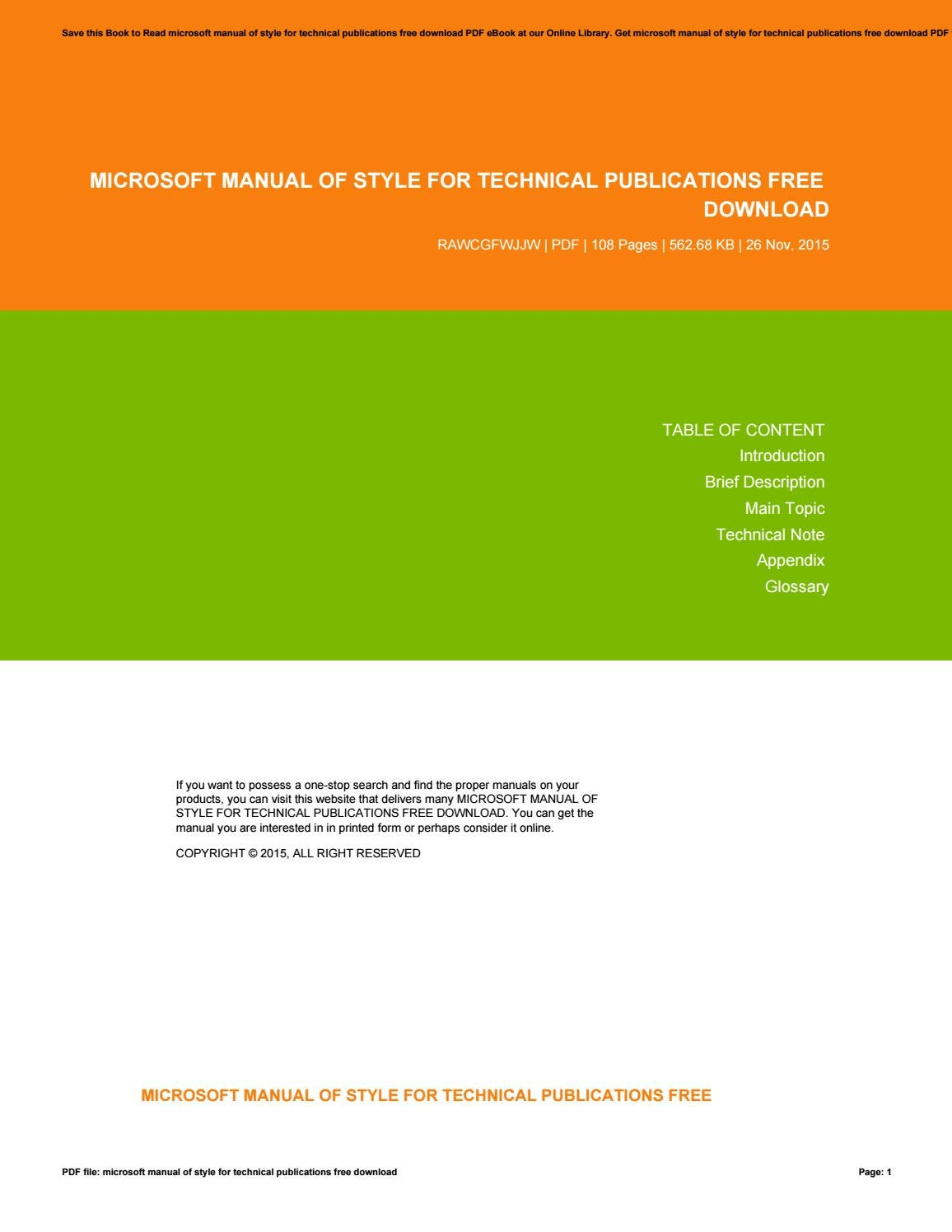 complete technical manuals free download