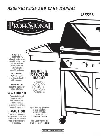 charbroil assembly manual model 463376017