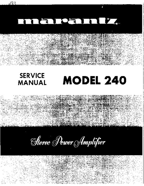 marantz model 240 service manual